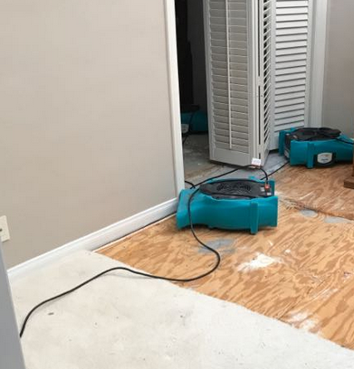 water damage clean up