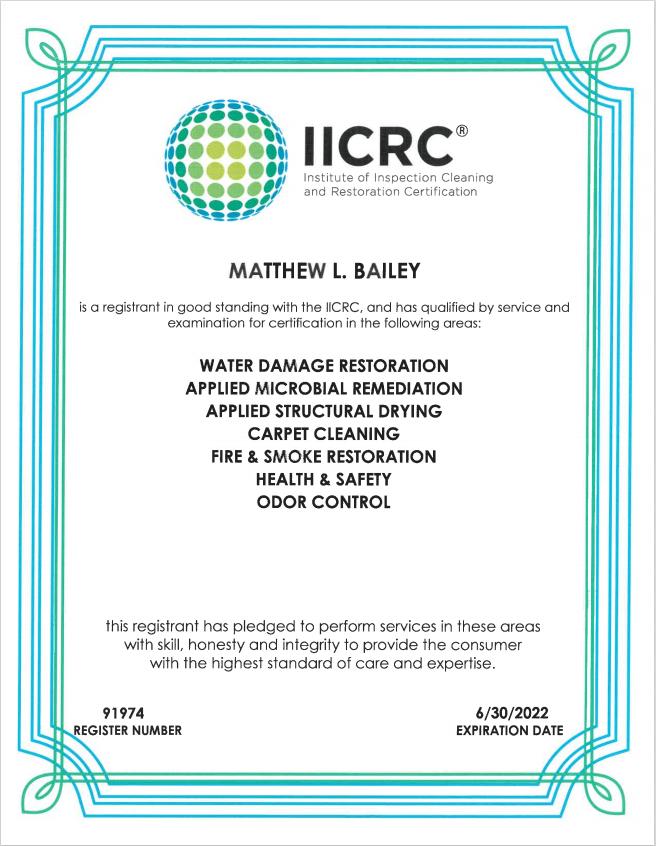 IICRC Matthew